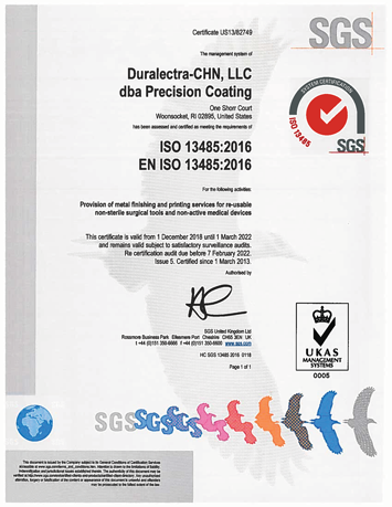 ISO 13485 Certified - Click for PDF